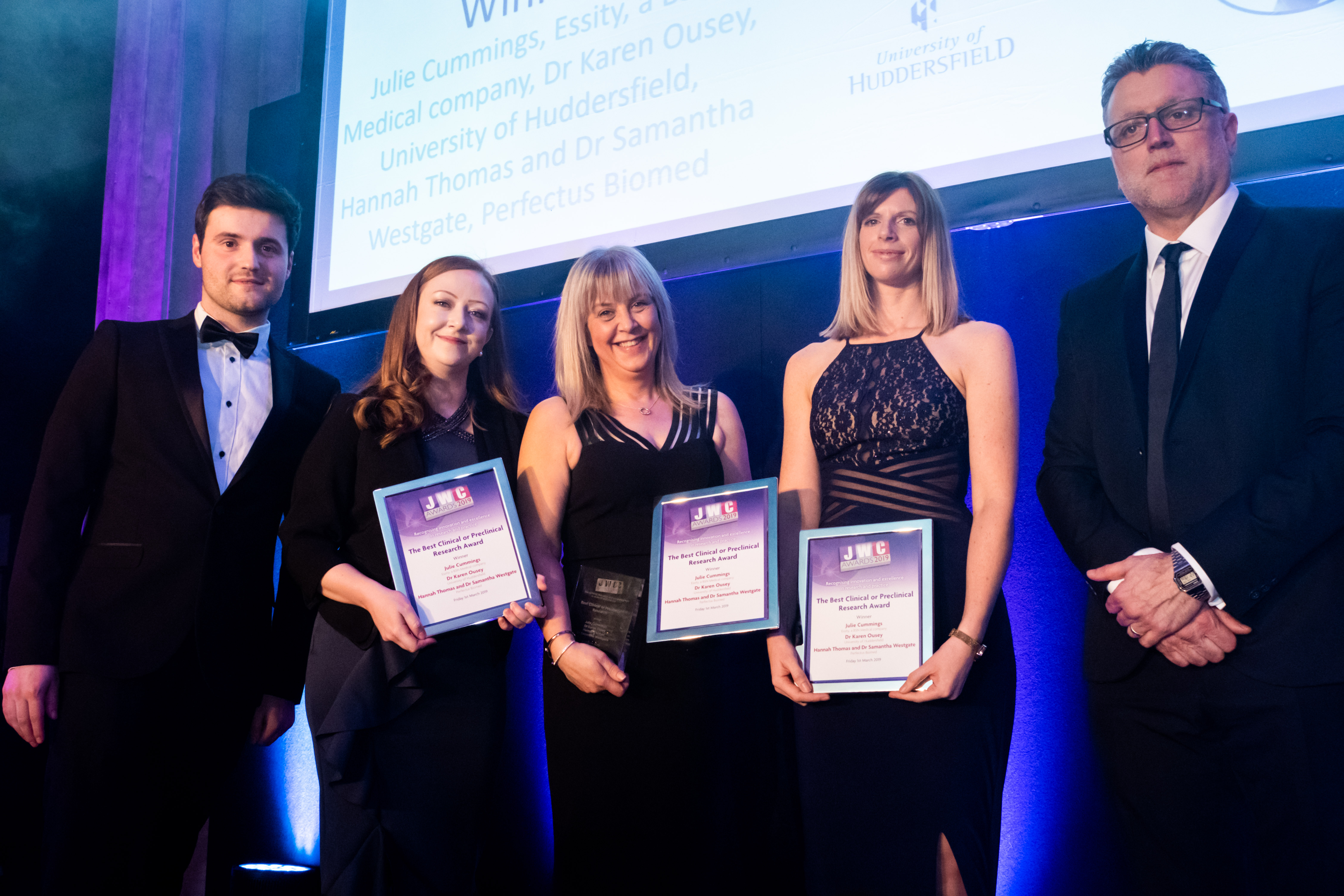 Perfectus Biomed, Essity and University of Huddersfield winners at the JWC Awards 2019